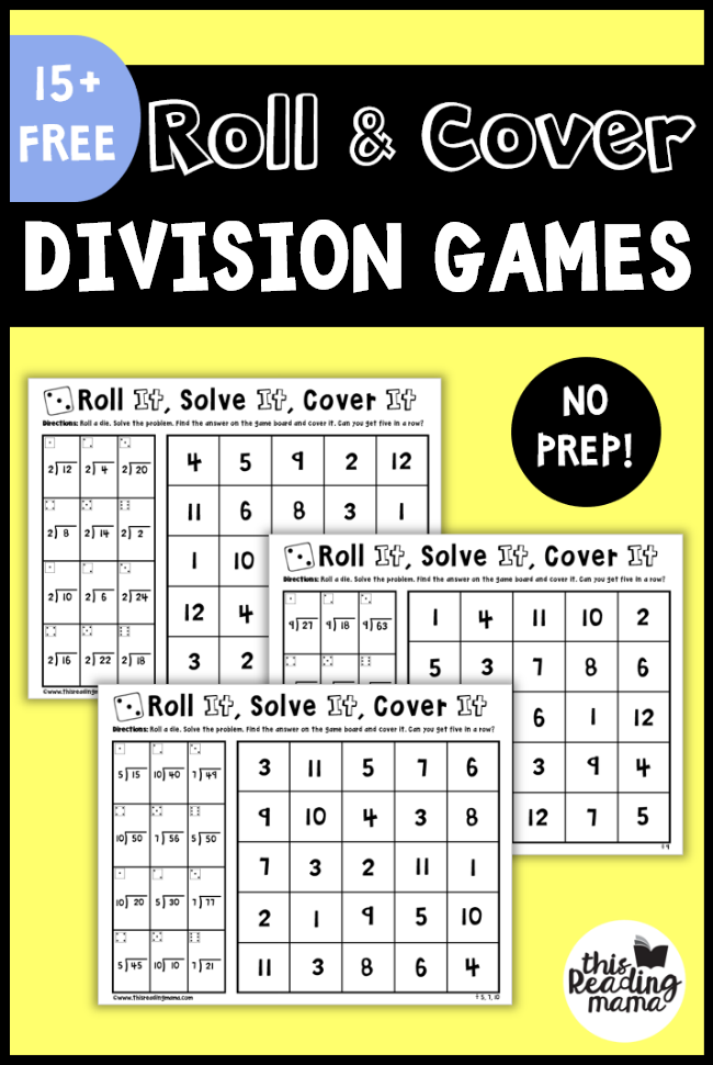 Multiplication And Division Printables This Reading Mama