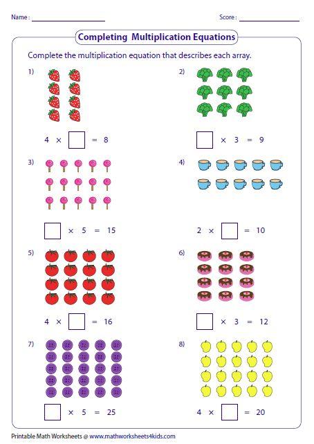 Printable Multiplication Games 4th Grade