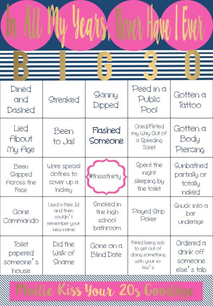 Never Have I Ever Bingo Board By NOLALOULOU On Etsy