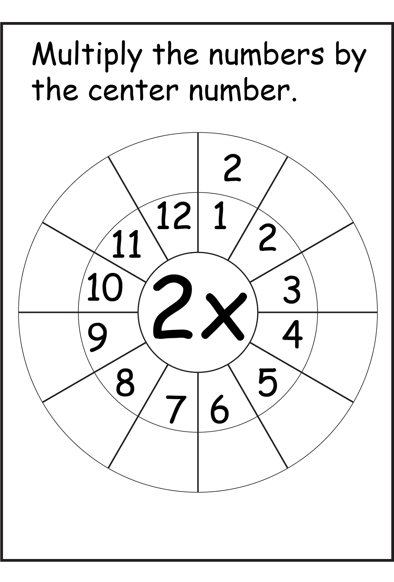 Printable 2 Times Table Worksheets Activity Shelter