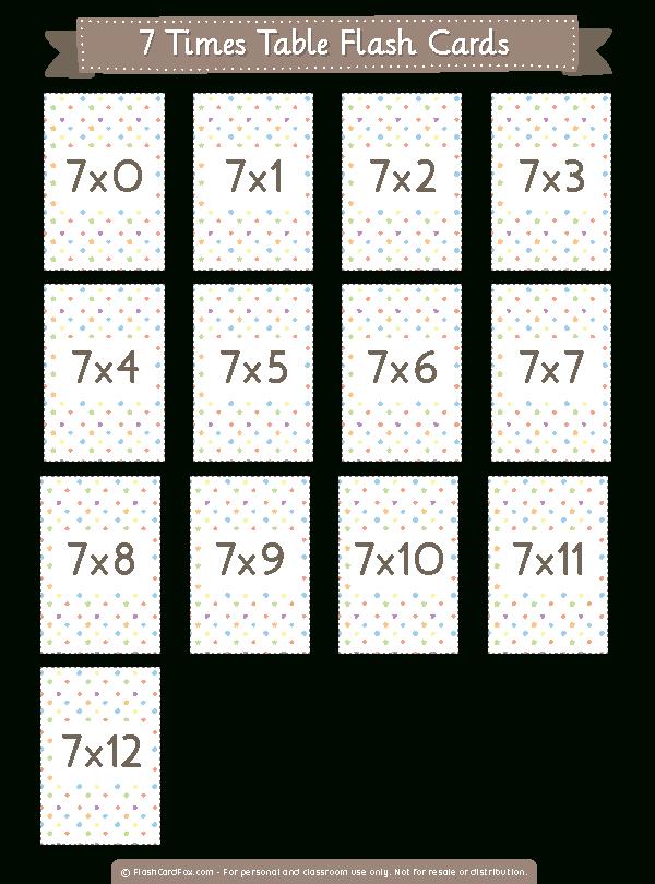 Printable 7 Times Table Flash Cards