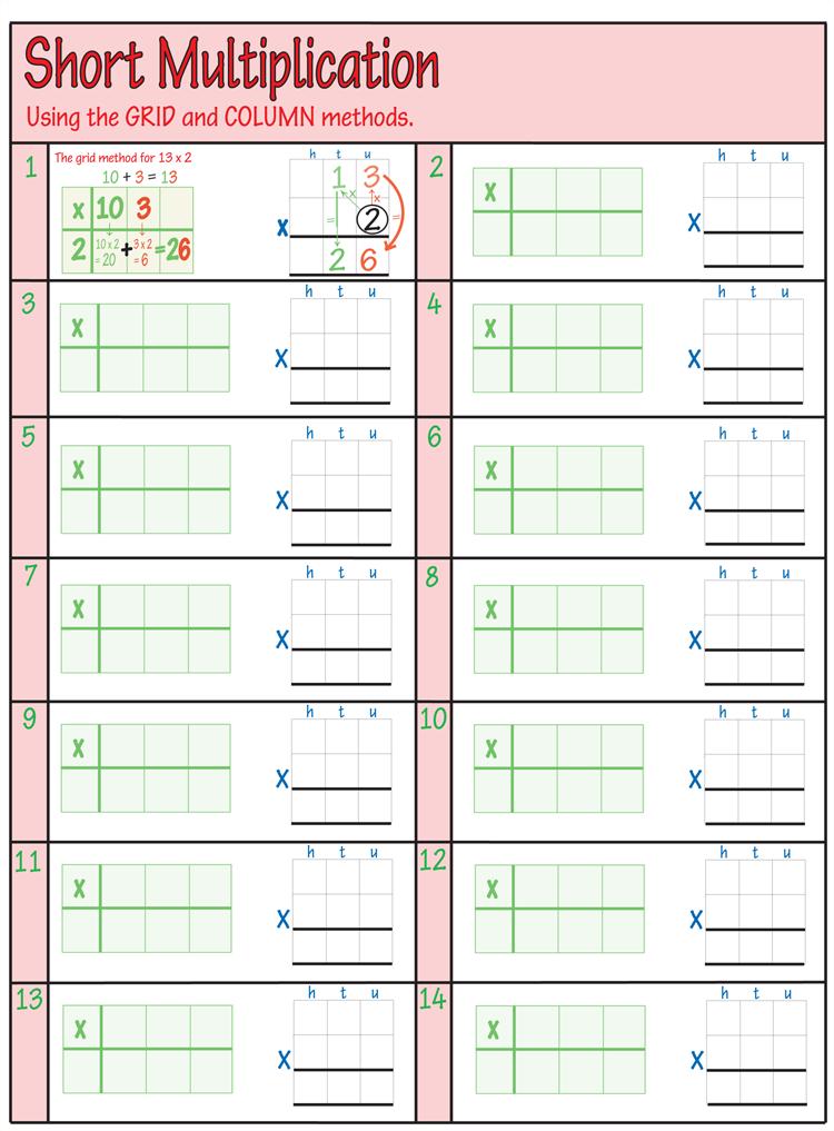 Printable Multiplication Worksheets For Practice Grade 4 6