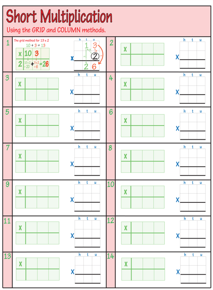 Multiplication Worksheets Double Digit Printable