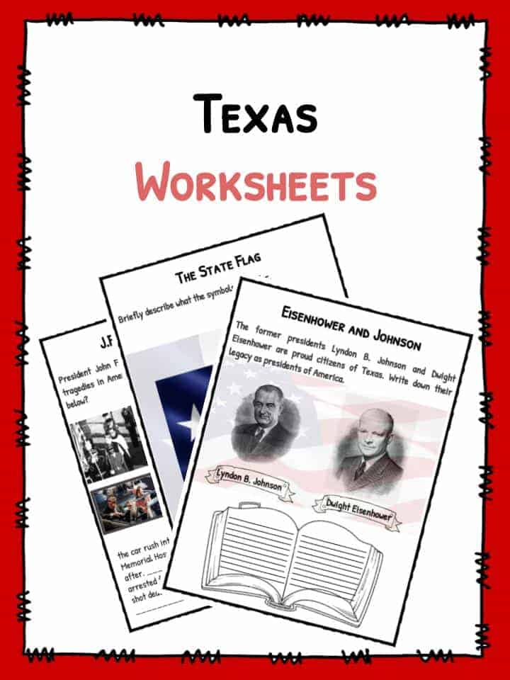 State Of Texas Facts Worksheets Historical Information