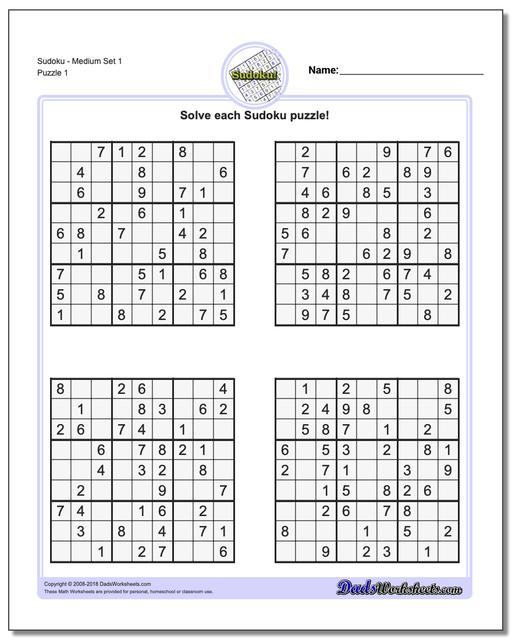 Multiple Sudoku Printable