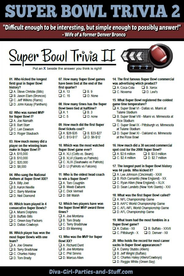 Free Printable Multiple Choice Trivia Questions And Answers