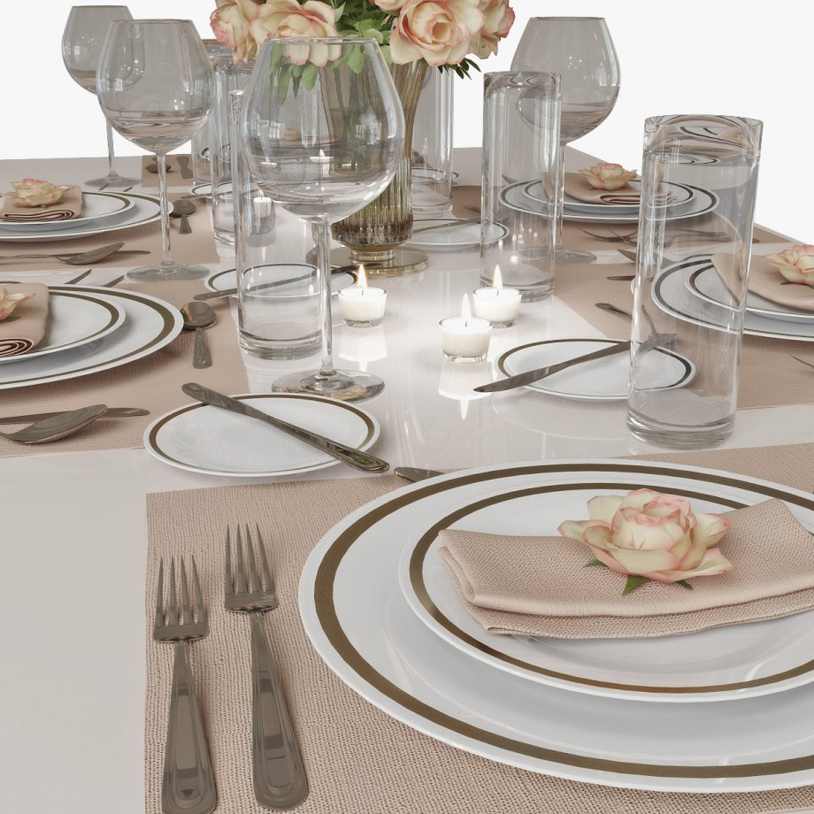 Table Setting 01 3d Model CGStudio