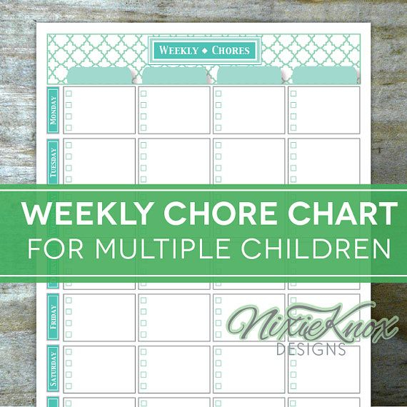 Free Printable Chore Charts For Multiple Children