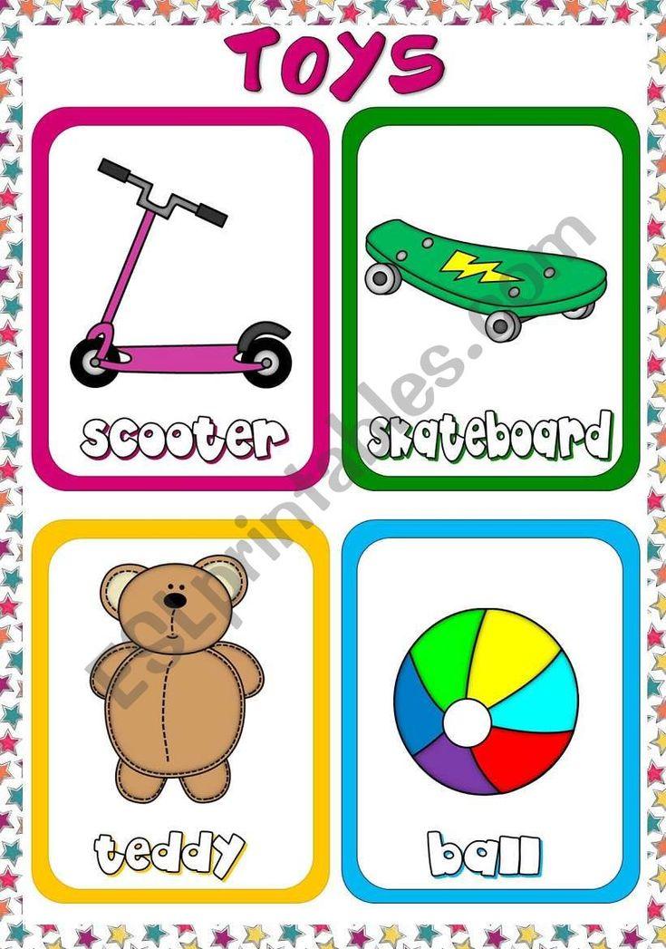 Toys Flashcards 1 Worksheet Fichas Primarias