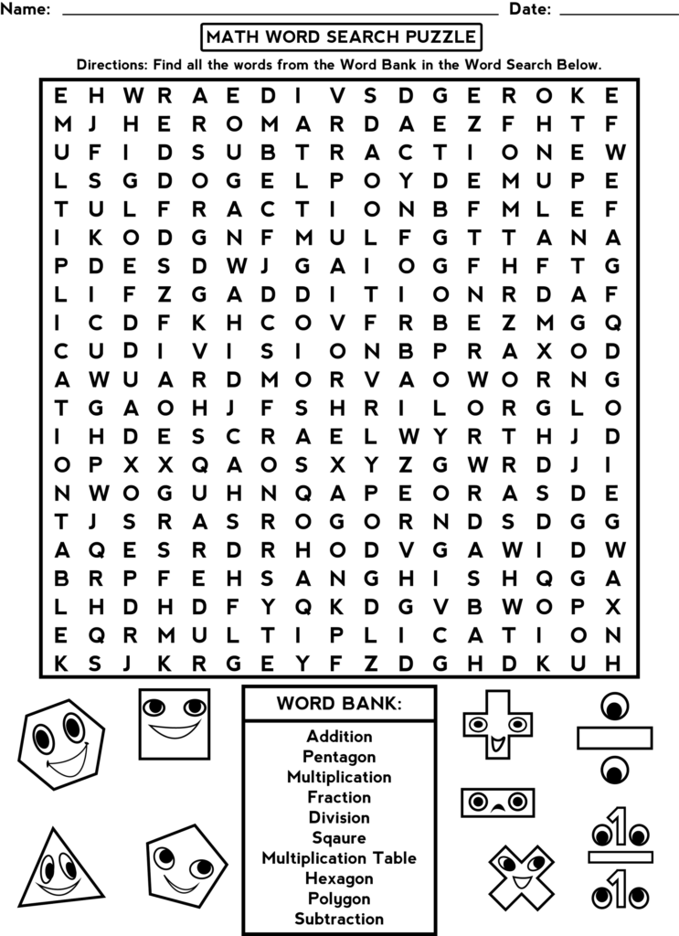 Word Search Worksheets For Brain Activity Activity Shelter